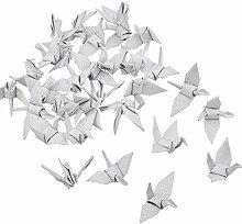 WANDIC Lot de 50 grues en papier origami pliées