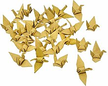 WANDIC Lot de 50 grues en papier pour origami,