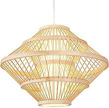 wangch Lampe à Suspension de Lanterne en Bambou,