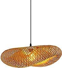 wangch Lampe À Suspension Lanterne en Bambou,