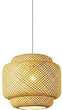 wangch Lampe suspension lanterne en bambou,