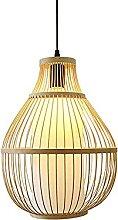 wangch Lanterne en Bambou Suspension Lampe Ronde