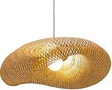 wangch Suspension de Chapeau de Paille en Bambou,