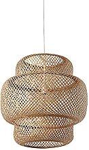wangch Suspension Lanterne en Bambou tissé à la