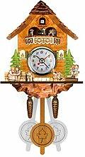 Wanghuaner Horloge murale en bois avec coucou et