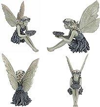 WANGQI Figurine d'elfe, ornement de jardin -