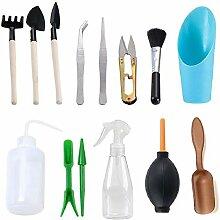 WANGQI Lot de 14 mini outils de jardinage pour