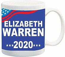 Warren Blue Background 2020 11 onces tasse à