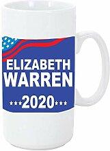 Warren Blue Background 2020 Big 11 onces tasse à