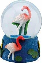 Water Globe - Flamant Rose de Deluxebase. Boule à