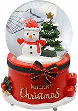 Wateralone Boule à neige de Noël Boîte à