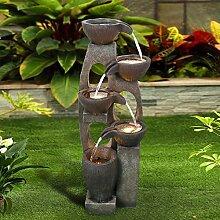 WATURE Fontaine d'extérieur moderne de 101 cm