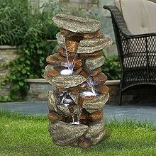 WATURE Fontaine de jardin Rockery - 78 cm -