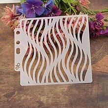 Wave DIY Réutilisable Modèles de peinture de