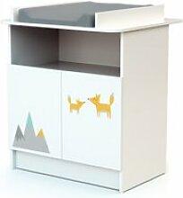 Webaby - meuble à langer - renard gris 90358203 06