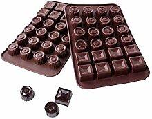 Webake 2 Pièces Moules à Chocolat 24 Cavités