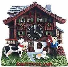 Wedare Magnet Souvenir Suisse Coucou Horloge 3D