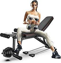 WEDSFC Banc De Musculation Réglable Workout,Solid