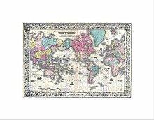 Wee Blue Coo Carte du monde sur la projection de