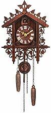 WEIHONG Horloge suspendue Artesanat Horloge en