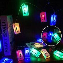 WEIXINHAI Lettre Light Box String Christmas Light