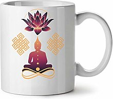 Wellcoda Yoga Conscient Mug en céramique, Paix