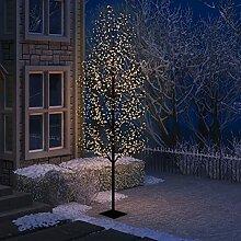WELLIKEA Sapin de Noël 1200 LED Blanc Chaud