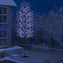 WELLIKEA Sapin de Noël 2000 LED Bleu Cerisier en