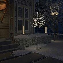 WELLIKEA Sapin de Noël 220 LED Blanc Chaud