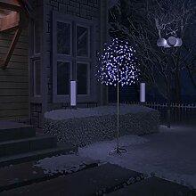 WELLIKEA Sapin de Noël 220 LED Bleues Cerisier en