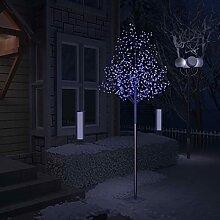 WELLIKEA Sapin de Noël 600 LED Bleues Cerisier en