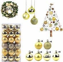 WELLXUNK Boules de Noël, 36 pièces Boule de