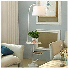 WEM Lampadaire, table basse avec prise USB, salon