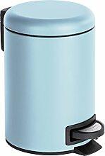 WENKO Poubelle cosmétique à pédale Leman bleu -