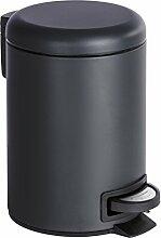WENKO Poubelle cosmétique à pédale Leman noir -