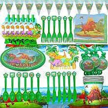WENTS Set Anniversaire Dinosaure 95pcs Fete