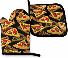 wenxiupin Pizza DA Pink Owl Mitaines De Four Et