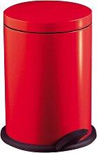 Wesco 116 212-02 Poubelle à pédale (Rouge)