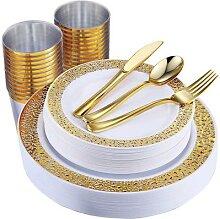 Western Food – service de table jetable pour 25