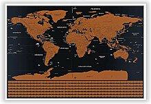 Westeros Carte du Monde à Gratter Extra Large A1