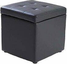 WEWE Cube en Faux Cuir Ottoman Rangement