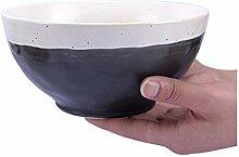 WFAANW Bol encre soupe blanche bol de riz japonais