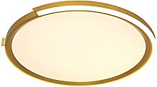 WFZRXFC LED Or Mince Rond Simple Plafonnier