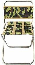WGFGXQ Chaise de Camping Pliante en Plein air