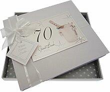 White Cotton Cards 70th Birthday Champagne Seau et