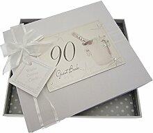 White Cotton Cards-Album Souvenir - 90th