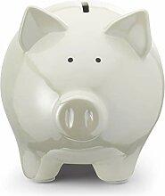 White Pig Tirelire en forme de cochon Blanc Taille