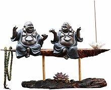 WHL Figurines Céramique Statues Bouddha Chanceux