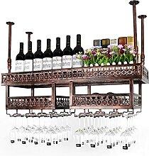 WHOJS Casier à Vin Porte-vin Rustique Porte-Verre