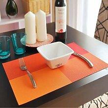 WHQ – 4 sets de Table en PVC, bloc de couleur,
